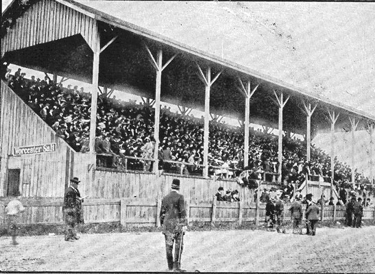 Grandstand from the old Niagara County Fair Grounds located off Locust Street within the City of Lockport.